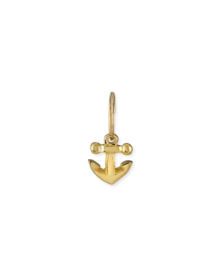 Lee Brevard 18k Anchor Drop Earring, Single