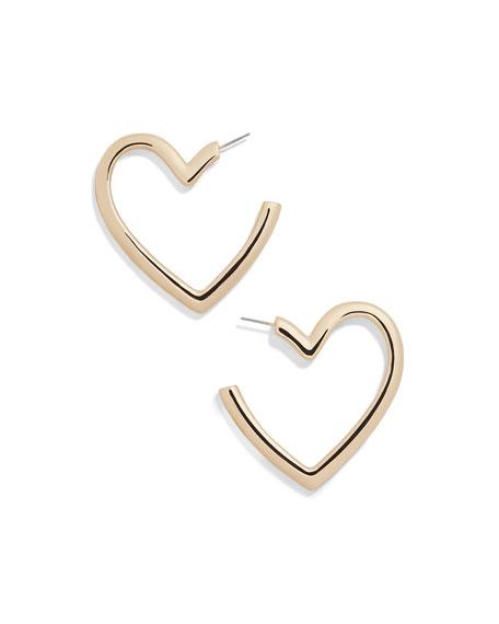 BaubleBar Brianna Heart Hoop Earrings