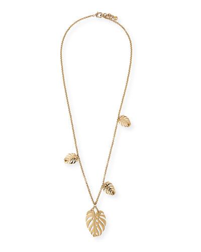 Botanica Long Leaf Pendant Necklace  35