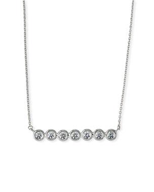 f9344d0cffb Roberto Coin 18k White Gold Diamond-Bezel Bar Necklace