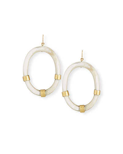 Somo Horn Hoop Drop Earrings