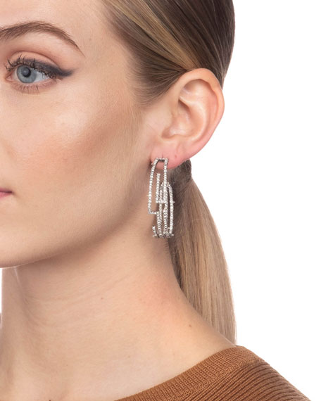 Alexis Bittar Crystal Encrusted Maze Hoop Earrings