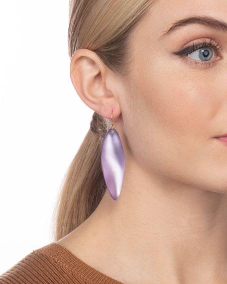 Alexis Bittar Long Leaf Earrings, Purple