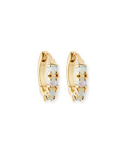 Opalescent Huggie Hoop Earrings