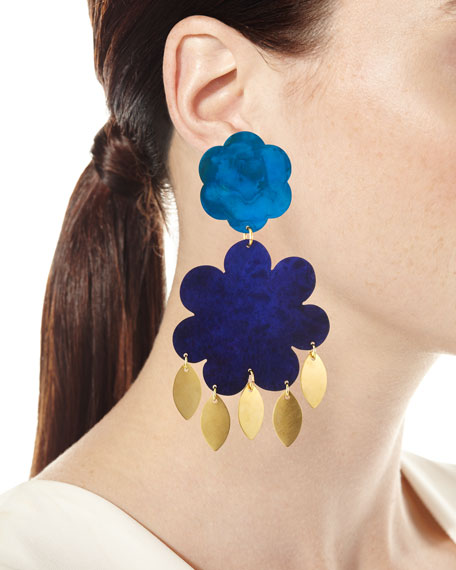 We Dream in Colour Flower Power Large Drop Earrings