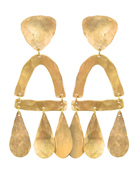 We Dream in Colour Castara Hammered Drop Earrings