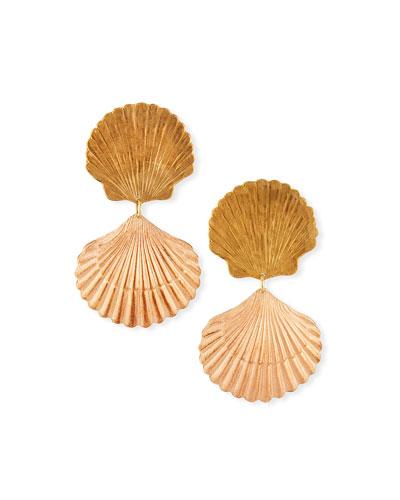 Seychelles Seashell Drop Earrings