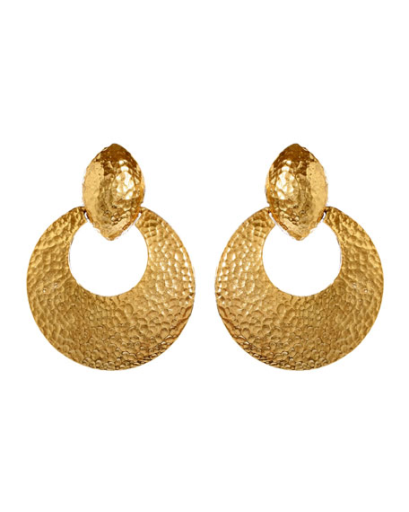 Ben-Amun Textured Hoop Clip-On Earrings
