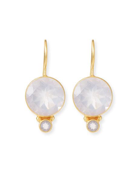 Dina Mackney White & Rose Quartz Drop Earrings