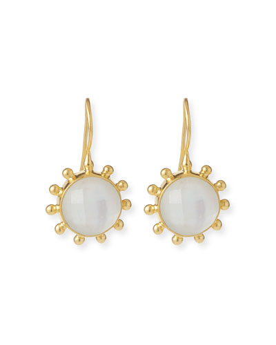 Pinwheel Mother-of-Pearl Drop Earrings
