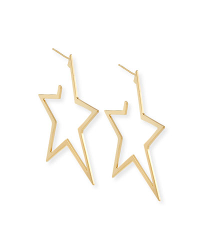 Sade Large Star Hoop Earrings