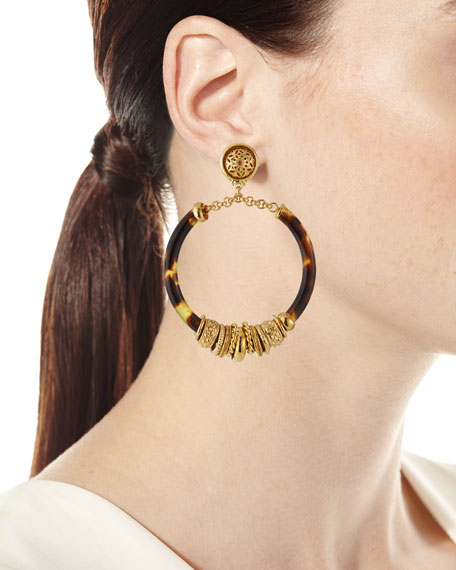 Gas Bijoux Mariza Hoop-Drop Earrings