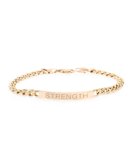 Zoe Chicco 14k Medium Curb-Chain STRENGTH Bracelet