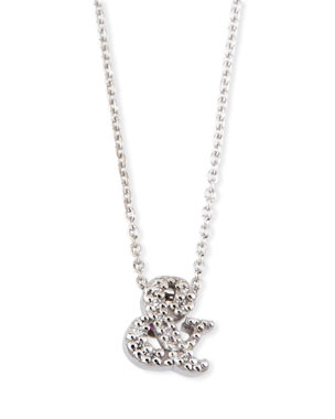 1a2544d0178 Roberto Coin 18k White Gold Diamond Ampersand Pendant Necklace