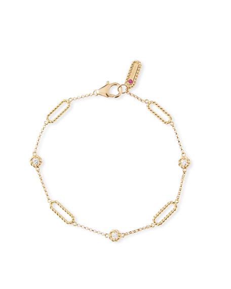 Roberto Coin Barocco Braid 18k Diamond Bracelet