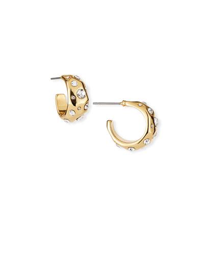 Chance Huggie Hoop Earrings
