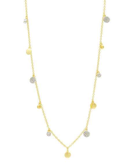 "Freida Rothman Fleur Bloom Empire Long Charm Necklace, 40""L"