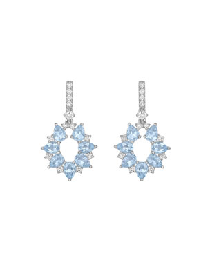 a56dc0c57 Kiki McDonough Juno 18K White Gold Blue Topaz & Diamond Earrings