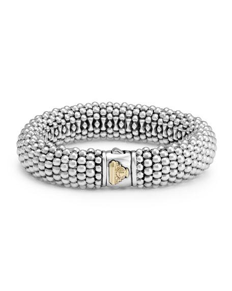 LAGOS Silver Caviar Oval Bracelet, 15mm