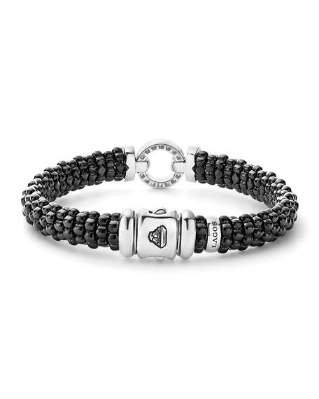 LAGOS Black Caviar Ceramic Bracelet with Diamond Circle