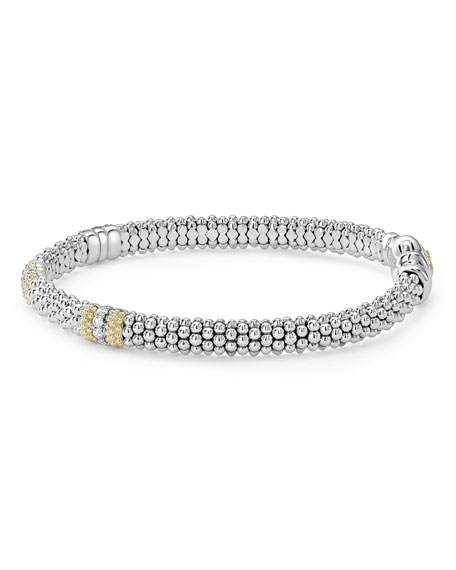 Image 3 of 5: Lagos 6mm Diamond Lux Three-Station Bracelet
