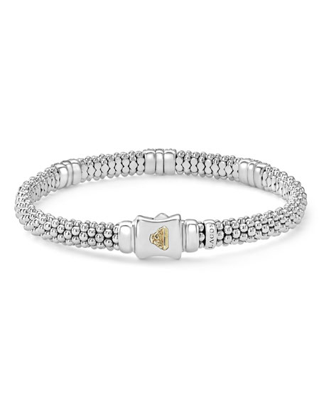 Image 4 of 5: Lagos 6mm Diamond Lux Three-Station Bracelet