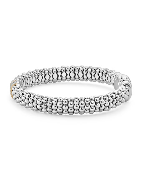 Image 3 of 5: Lagos Diamond Lux 9mm Single Station Bracelet with Diamonds