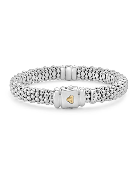 Image 4 of 5: Lagos Diamond Lux 9mm Single Station Bracelet with Diamonds