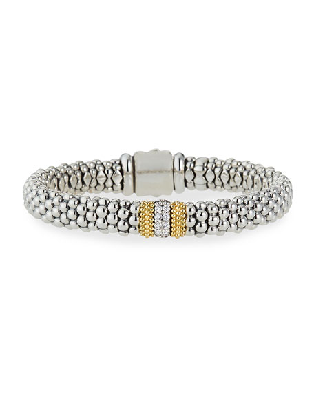 Image 1 of 5: Lagos Diamond Lux 9mm Single Station Bracelet with Diamonds