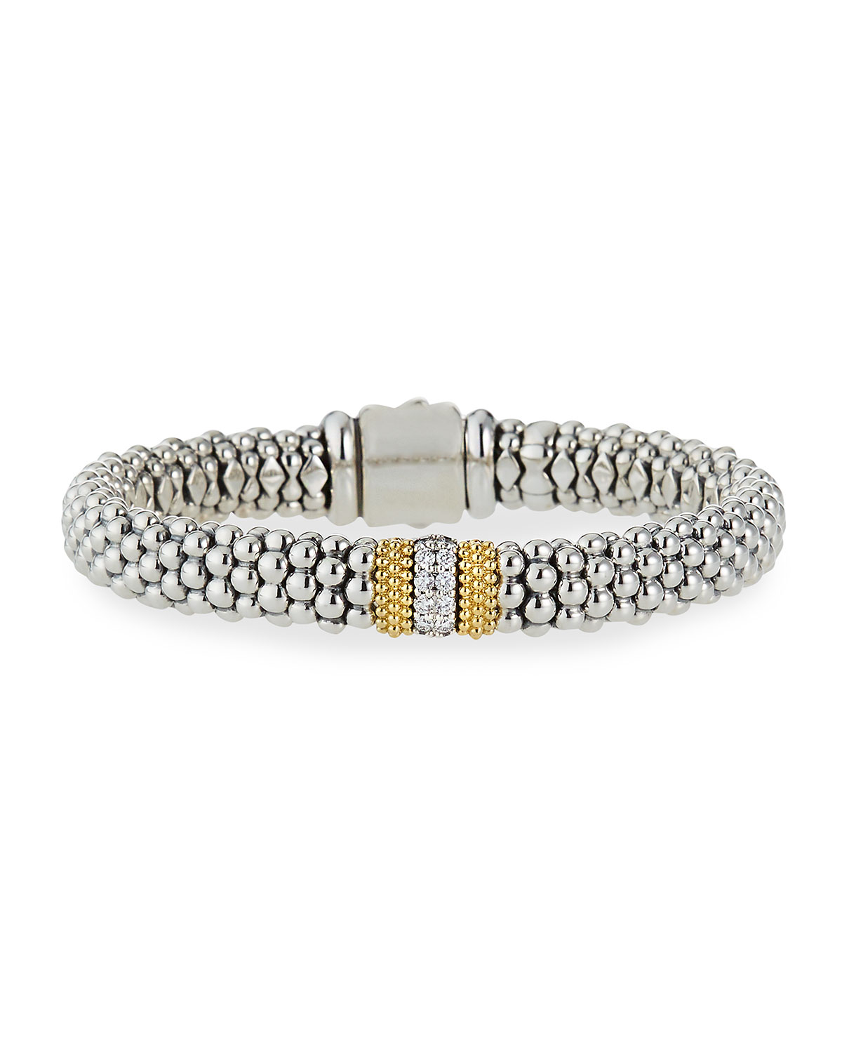 Lagos Diamond Lux 9mm Single Station Bracelet with Diamonds