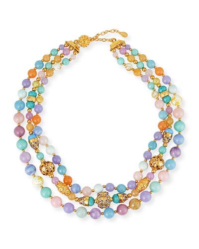 3-Strand Semiprecious Necklace