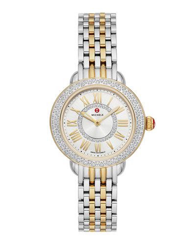 Serein Petite Two-Tone Diamond Watch  Gold/Steel