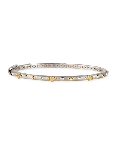 Mixed Metal Alternating Quad Bangle
