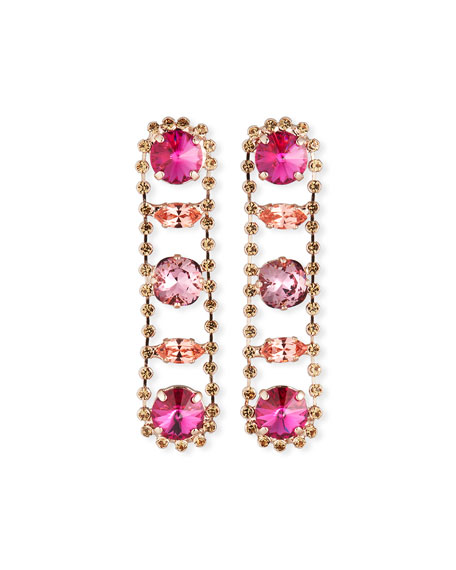 Rebekah Price Julie Linear Drop Earrings, Rose