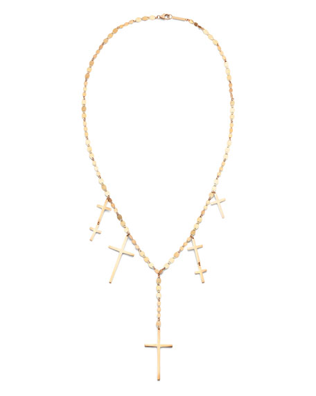 LANA 14k Multi-Cross Lariat Necklace
