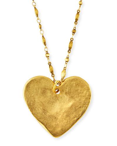 Long Heart Pendant Necklace  34L