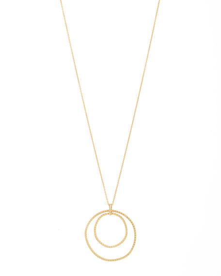 gorjana Bali Double-Hoop Pendant Necklace