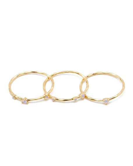 gorjana Cleo Opalite Rings, Set of 3, Size 6-8