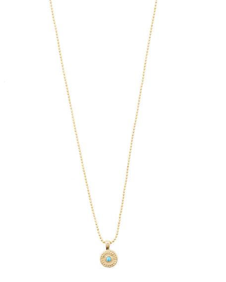 gorjana Cruz Coin Necklace w/ Stone