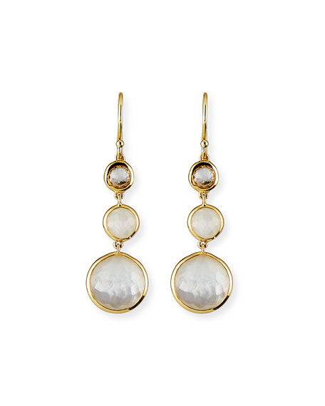 Image 1 of 2: Ippolita 18k Lollipop® Three-Stone Drop Earrings