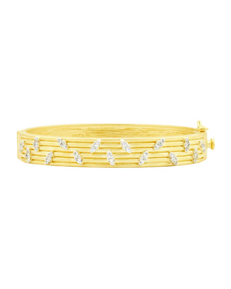 Freida Rothman Fleur Bloom Empire Layered Hinge Bangle