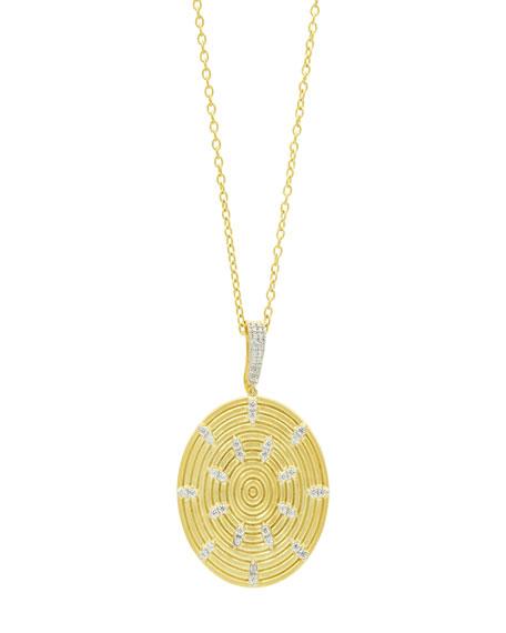 Freida Rothman Fleur Bloom Empire Circular-Ring Pendant Necklace