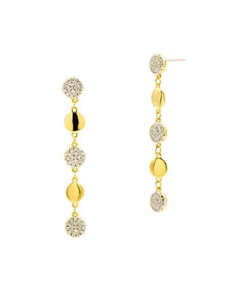 Freida Rothman Radiance Linear Drop Earrings, Yellow Gold