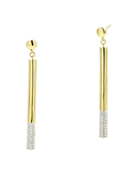 Freida Rothman Radiance Matchstick Earrings, Yellow Gold