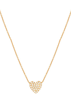 Zoe Lev Jewelry 14k Gold Diamond Heart Necklace