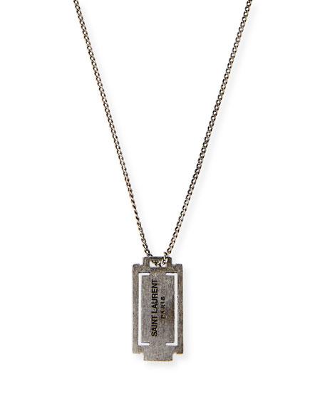 Saint Laurent Long Razor Necklace