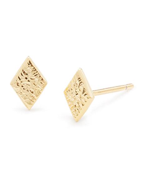 gorjana Cortez Diamond-Shaped Stud Earrings