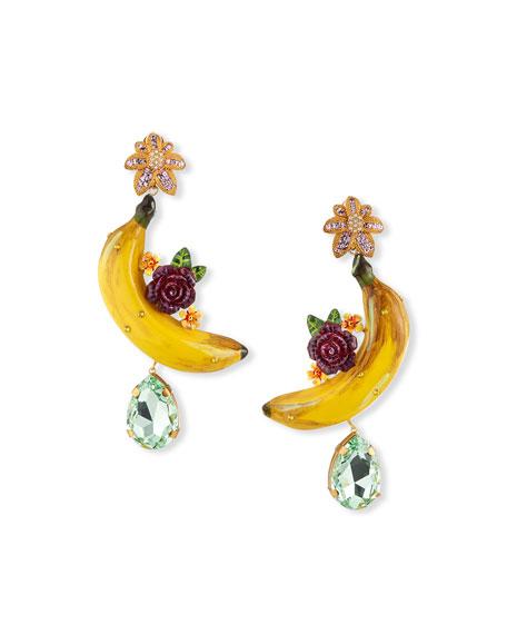 Dolce & Gabbana Banana and Flower Drop Earrings
