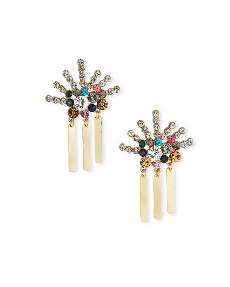 Devon Leigh Multicolor Crystal & Dangle Earrings