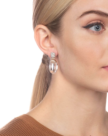 Alexis Bittar Domed Circle Drop Earrings